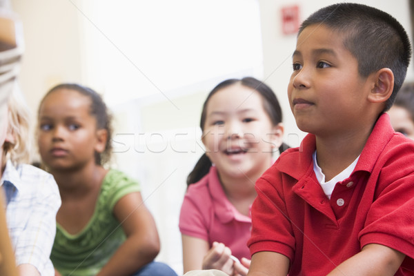 Kindergarten children in classroom Stock photo © monkey_business