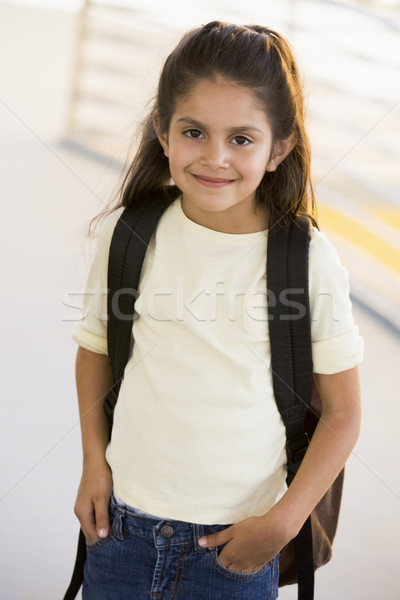 Portrait of kindergarten girl with backpack Stock photo © monkey_business