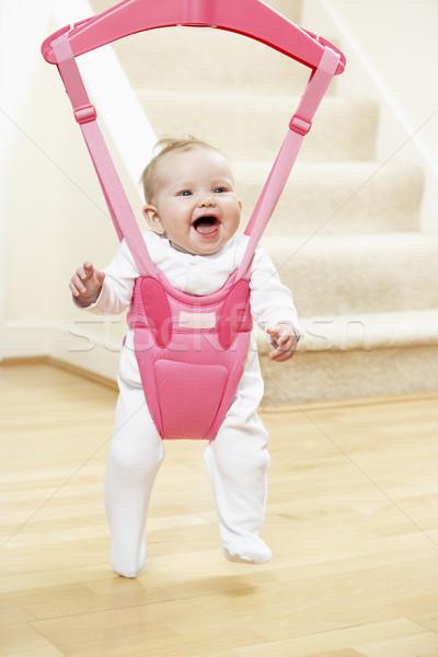 ストックフォト: 赤ちゃん · 用心棒 · 笑みを浮かべて · 一緒に · 笑い · 白人