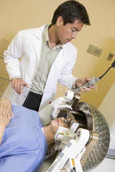 врач глазах человека медицина шлема цвета Сток-фото © monkey_business