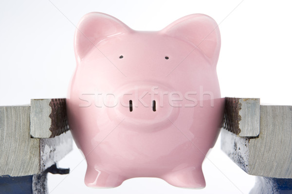 Spaarvarken bankschroef witte financieren idee concept Stockfoto © monkey_business