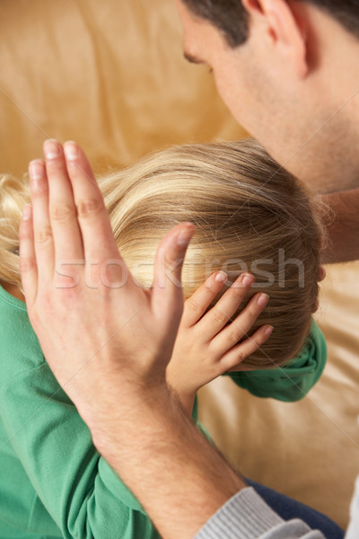 Portrait Of Frightened Daughter Looking At Father Stock photo © monkey_business