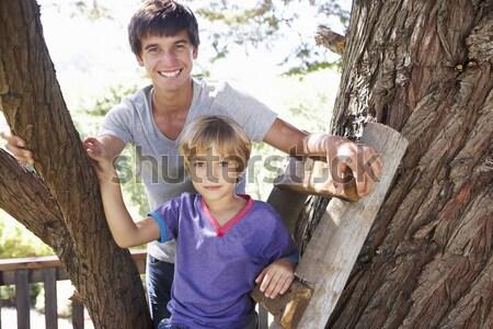Familie zeewier man natuur zee leuk Stockfoto © monkey_business