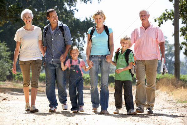 Three generation family on country walk Stock photo © monkey_business