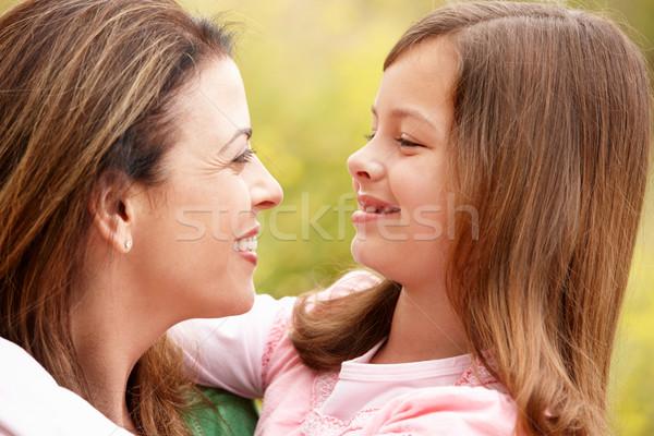 Portré spanyol anya lánygyermek lány boldog Stock fotó © monkey_business