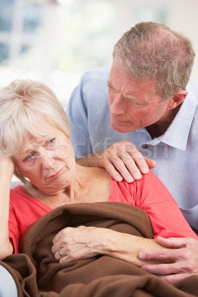 Senior man looking after sick wife Stock photo © monkey_business