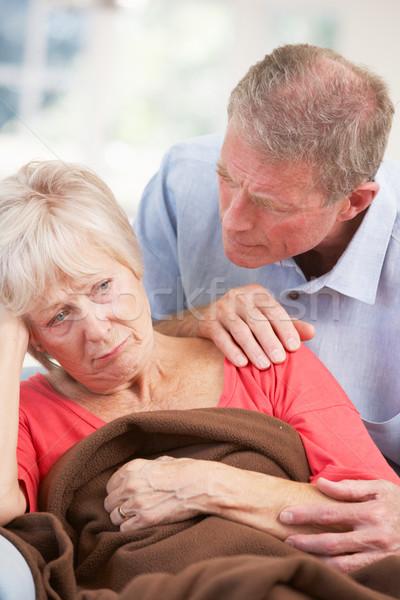 старший человека глядя больным жена женщины Сток-фото © monkey_business