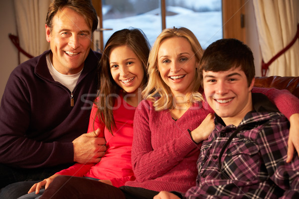 Portrait Of Family Relaxing On Sofa Together Stock photo © monkey_business
