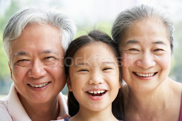 голову Плечи портрет китайский дедушка и бабушка внучка Сток-фото © monkey_business