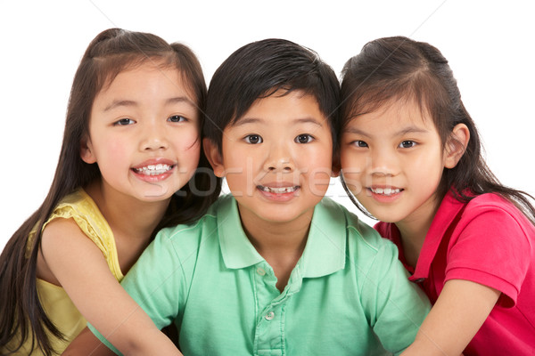 Studio Shot Of Three Chinese Children Stock photo © monkey_business