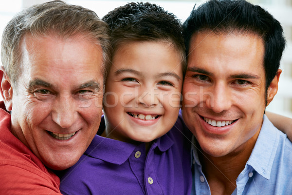 Male Members Of Multi Generation Family At Home Stock photo © monkey_business