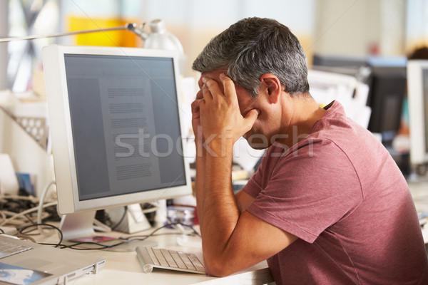 Photo stock: Homme · travail · bureau · occupés · Creative