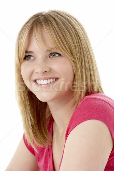 Studio Portrait Of Smiling Teenage Girl Stock photo © monkey_business