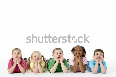 Stock photo: Group Of Young Children In Studio