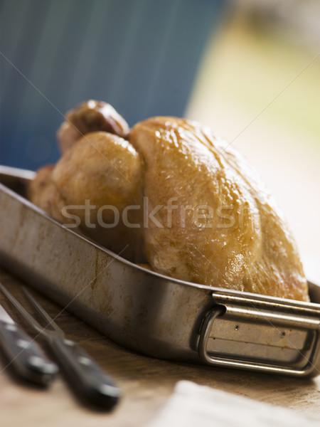 Roast Chicken in a Roasting Tray Stock photo © monkey_business