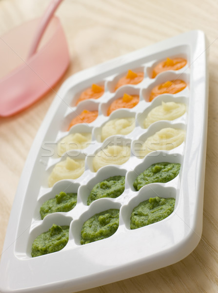 Pureed Baby Food in a Ice Cube Tray Stock photo © monkey_business
