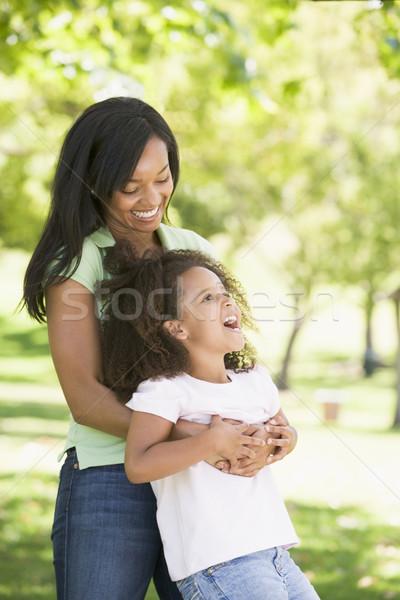 Kobieta młoda dziewczyna odkryty uśmiechnięta kobieta uśmiechnięty Zdjęcia stock © monkey_business