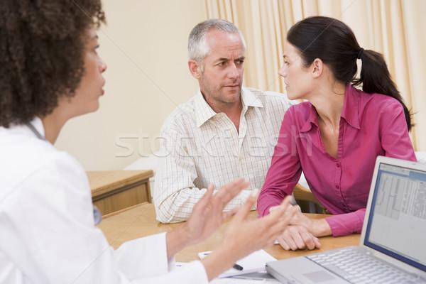 Photo stock: Médecin · portable · couple · homme · santé