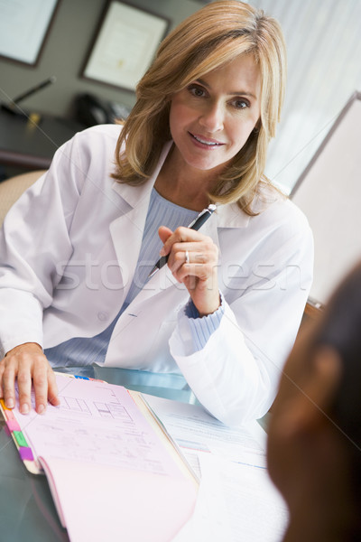 Doctor in discussion with patient in IVF clinic Stock photo © monkey_business