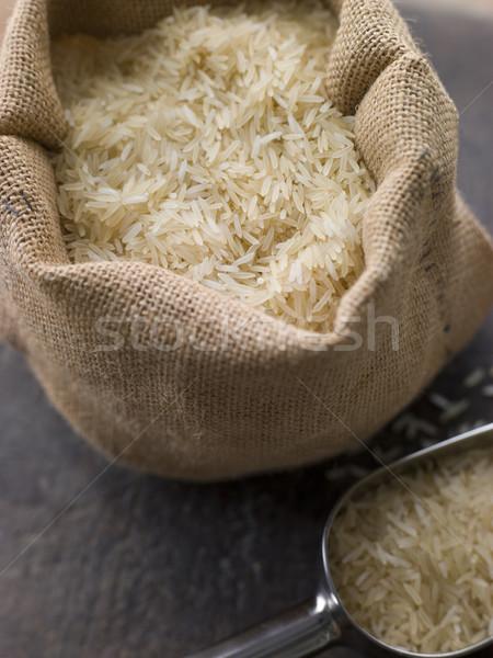 Basmati Rice In Sack Stock photo © monkey_business