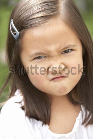 Portrait Of Girl Frowning Stock photo © monkey_business