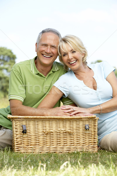 Stockfoto: Volwassen · paar · picknick · platteland · vrouw · man