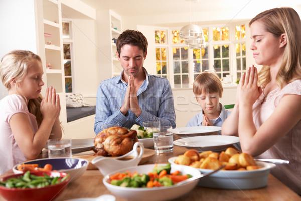 家族 ことわざ 祈り 食べ ディナー 女性 ストックフォト © monkey_business