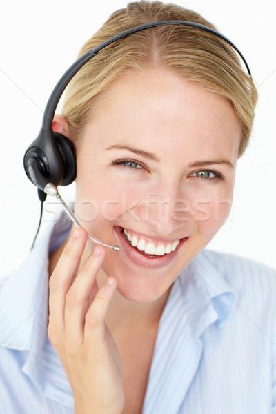 Call center operatore business donna mani mano Foto d'archivio © monkey_business