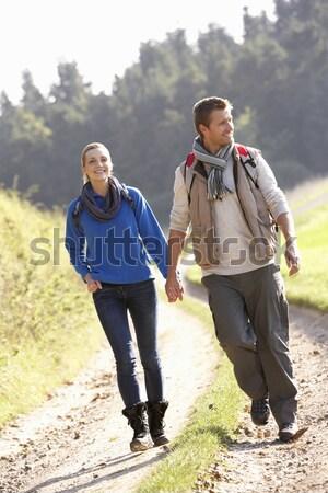 País andar menina homem casal Foto stock © monkey_business