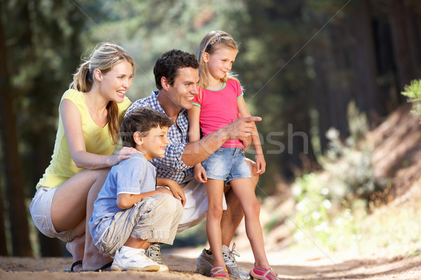 Family on country walk Stock photo © monkey_business