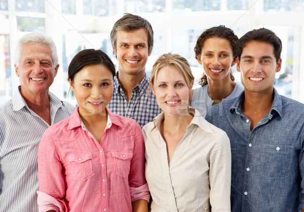 Stockfoto: Gemengd · groep · zakenlieden · kantoor · business · vrouwen