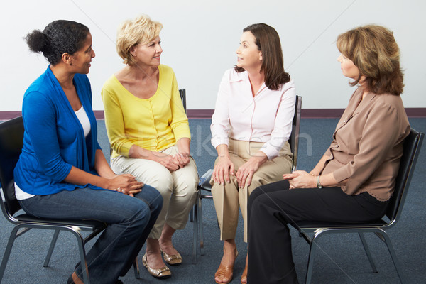 Toplantı destek grup kadın kadın konuşma Stok fotoğraf © monkey_business