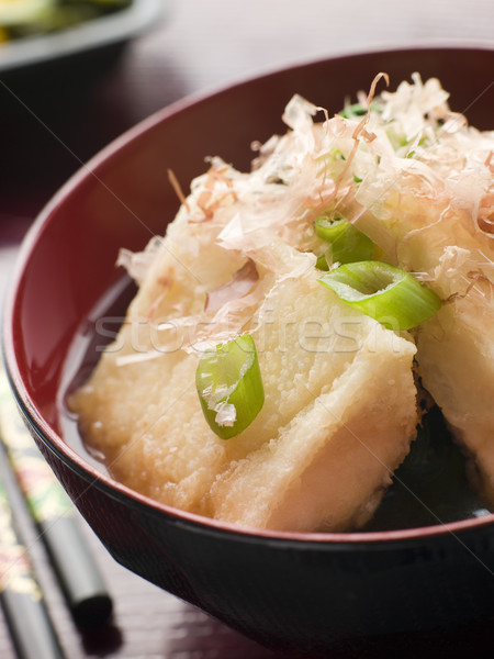 Crisp Fried Tofu in Miso with Bonito Flakes and Pickles Stock photo © monkey_business