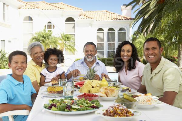 Family Eating An Al Fresco Meal Stock photo © monkey_business