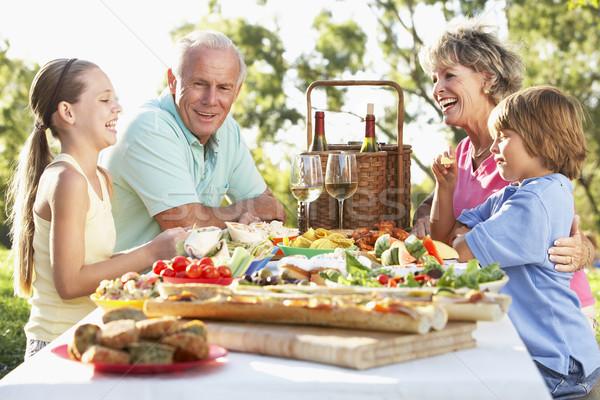 Stockfoto: Familie · dining · vrouw · wijn · man