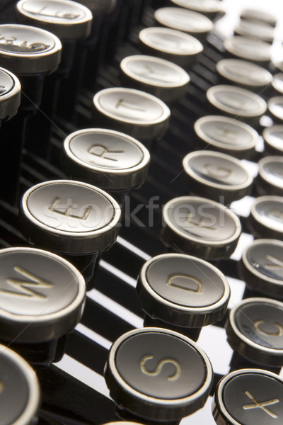 Close Up Of Old Fashioned Typewriter Keys Stock photo © monkey_business