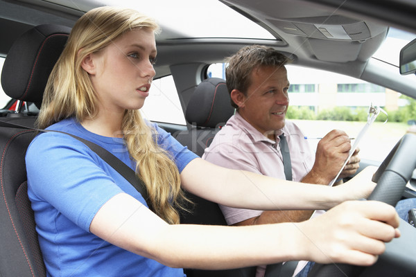 Teenage Girl Taking A Driving Lesson Stock photo © monkey_business