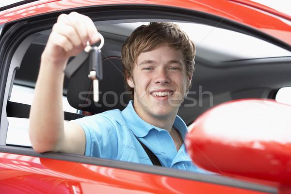 Oturma araba araba anahtarları anahtar Stok fotoğraf © monkey_business