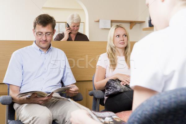 待合室 受付 デスク 女性 電話 健康 ストックフォト © monkey_business