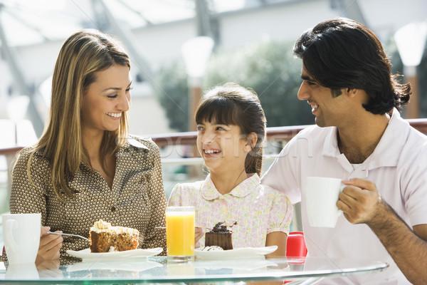 Aile kafe kek kahve Stok fotoğraf © monkey_business