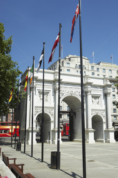 Marble Arch With Flags Flying, London, England Stock photo © monkey_business
