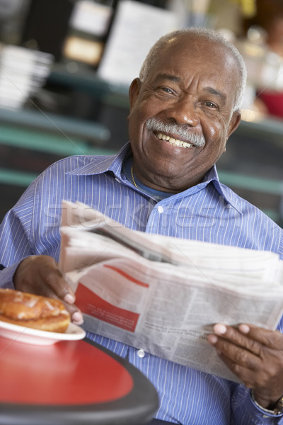 Senior man having morning tea Stock photo © monkey_business