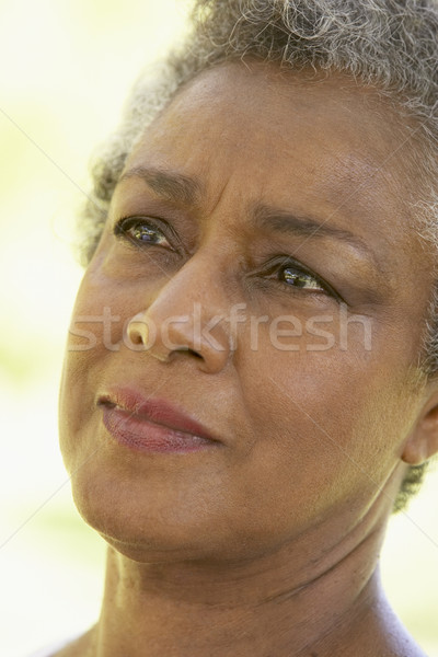 Portrait Of Senior Woman Looking Anxious Stock photo © monkey_business