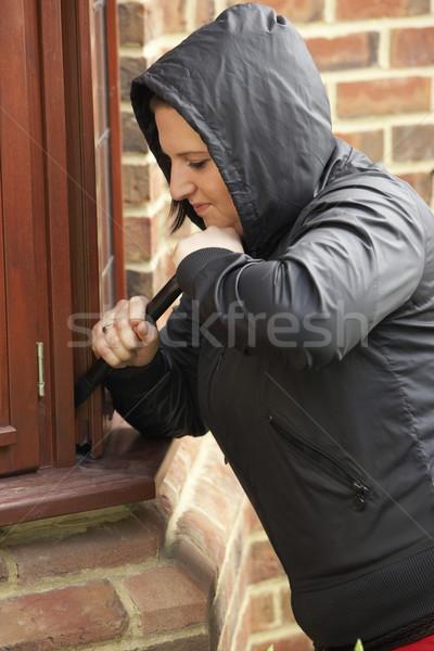 Mulher jovem casa mulher rua adolescente masculino Foto stock © monkey_business