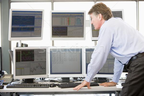 Stock Trader Examining Computer Monitors Stock photo © monkey_business