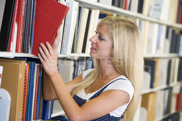 Сток-фото: книга · библиотека · женщины · шельфа