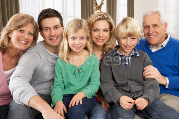 Portrait Of Three Generation Family At Home Stock photo © monkey_business