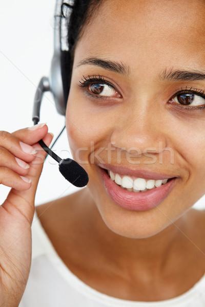 Сток-фото: Call · Center · оператор · бизнеса · женщину · стороны · телефон