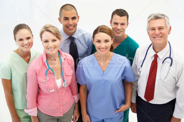 Mista gruppo medici professionisti lavoro ospedale Foto d'archivio © monkey_business