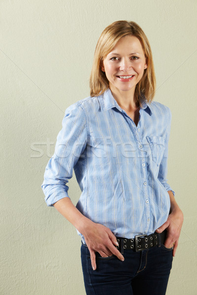 Studio Shot Of Relaxed Middle Aged Woman Stock photo © monkey_business